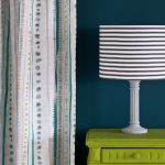 Firle-side-table,-Wall-Paint-in-Aubusson-Blue,-Piano-in-Provence-curtain,-Ticking-in-Graphite-lampshade,-72dpi-image-3