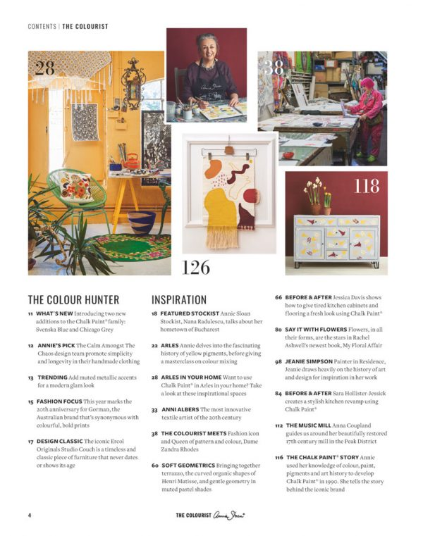 The Colourist Issue 2 Contents
