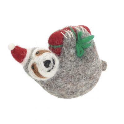 Festive Felt Sloth